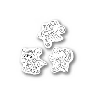 チビビンガステッカー シンプル線画 Stickers