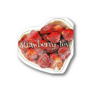 strawberry love Stickers