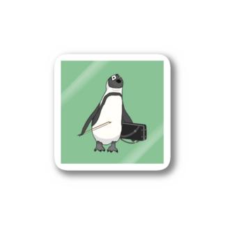 弓をしまい忘れたペンギン みどり Stickers