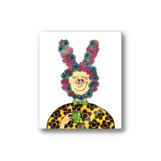 flower rabbit Stickers