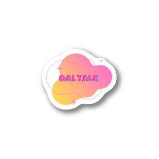 GAL TALK ロゴ Stickers