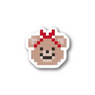 ベア子ステッカー Stickers