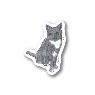 100nyans097.tuxedcat Stickers