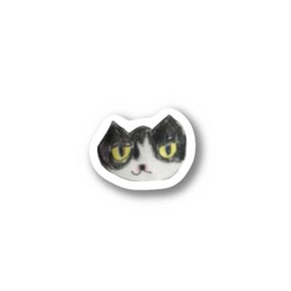 ハチワレイラストステッカー Stickers