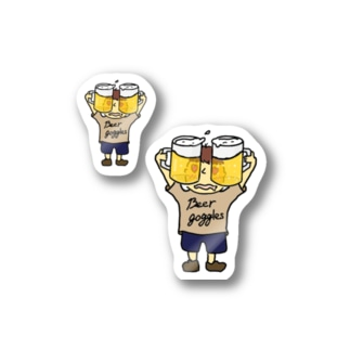 beer goggles twin🍻 Sticker