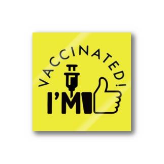 ワクチン接種済みステッカー Stickers