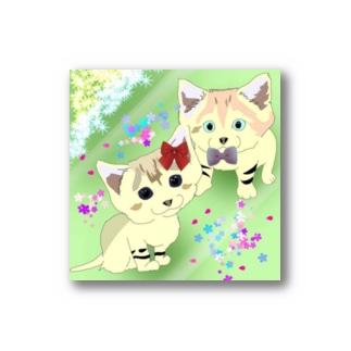スナネコの兄妹 らいむくん💚らいちちゃん Stickers