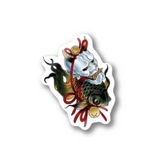 般若金魚結び Stickers