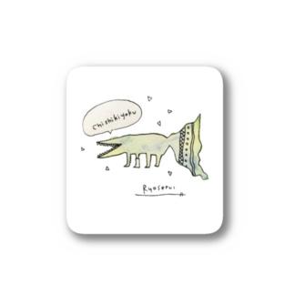 両生類の知識欲(背景白) Stickers