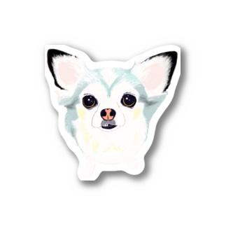 「保護犬カフェ支援」グッズ ビビィさん Stickers