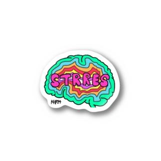 ストレス脳 Stickers