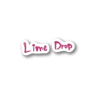 Lime Drop ロゴ ピンク Stickers