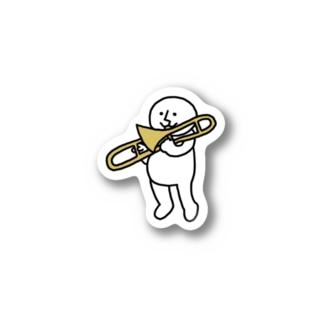 まるちゃんトロンボーンを吹く Stickers