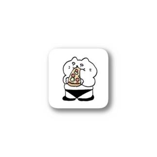 ピザを食べるネコ Stickers