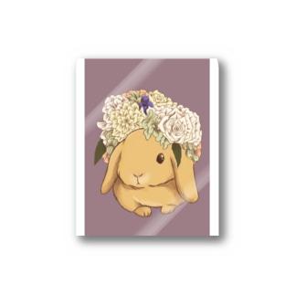 花冠と垂れ耳うさぎ Stickers