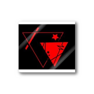 黒×赤の△☆ ステッカー