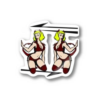 TWIN DEVIL'S Stickers