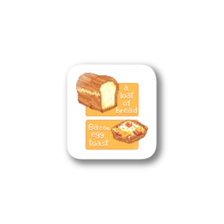 a loaf of bread & Beacon and eggs toast Stickers