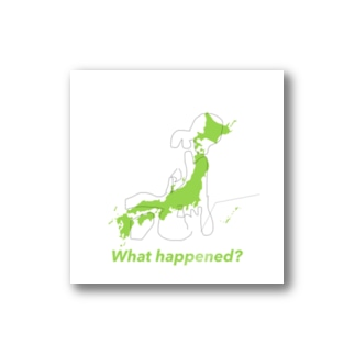What happened?日本列島ステッカー Stickers