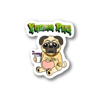 YOUNG PUG Stickers
