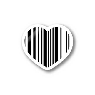 ハートバーコードステッカー Stickers