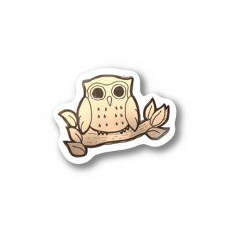 福フクロウ Stickers