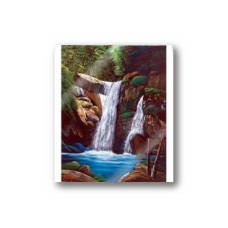 深緑の滝 Stickers