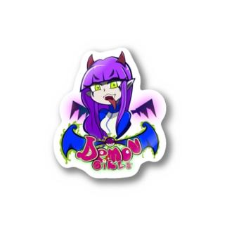 demon girls #2 Becca the crusher Sticker