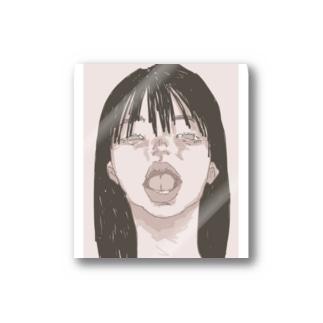 喉が痛い時の絵 Stickers