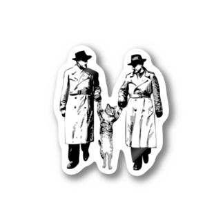 捕まったネコ(クリエ) Stickers