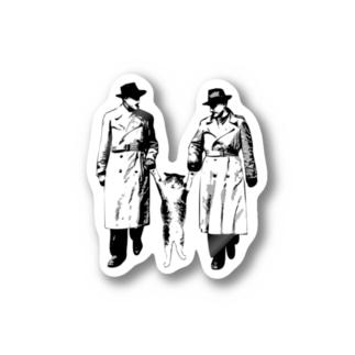捕まったネコ(モアレ) Stickers