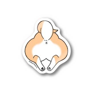 柴犬のおしりステッカー Stickers