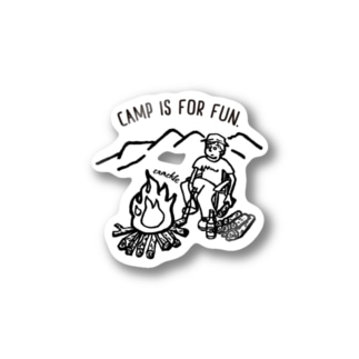 CAMP IS FOR FUN01(黒文字) Stickers