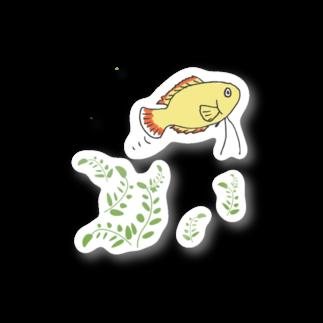 ぺんぎん丸の泳ごうよ!アクアリウム(ゴールデンハニードワーフグラミー) Stickers