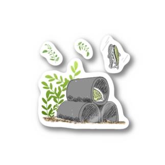 泳ごうよ!アクアリウム(パキスタンローチ&オトシンクルス) Stickers