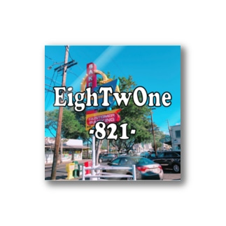 EighTwOne‐821-LOGO Stickers
