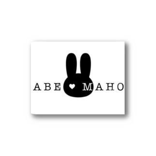 阿部真穂 新ロゴ グッズ Stickers