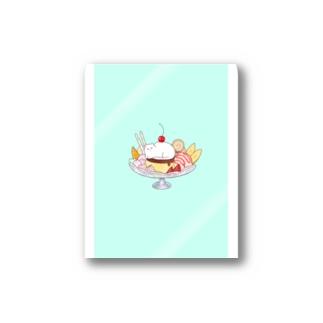 白ちゃんパフェ Stickers