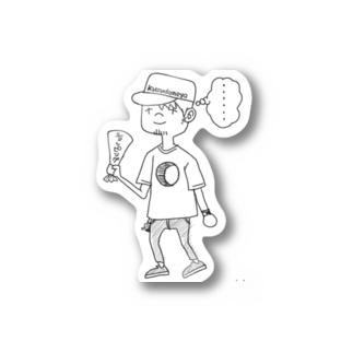 kuzudameya shop💀 by SUZURIのくずだめや君 Sticker