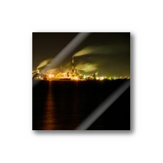工場夜景3 Stickers