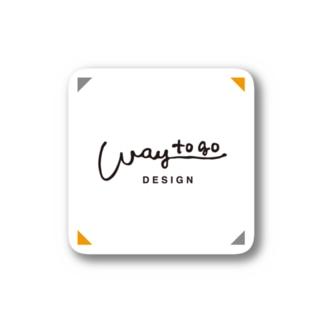 waytogo ロゴステッカー・イエロー Stickers