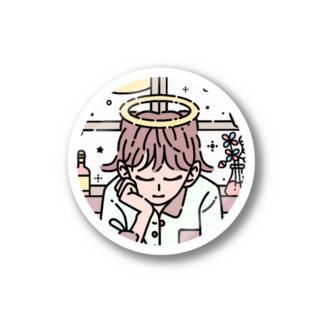 白昼夢 (pink) Stickers