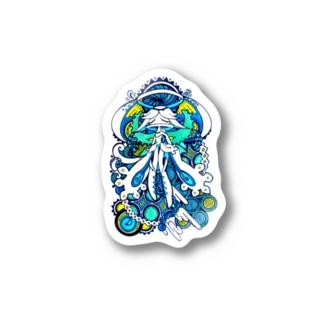BlueWomb Stickers