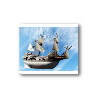船の写真:ガレオン船模型 Model ship of a Galleon Stickers