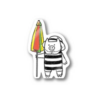 ブタ2021夏 Stickers