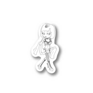 ランジェリーショート(ものくろ) Stickers