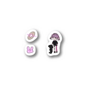 ドット絵ぽいステッカー Stickers