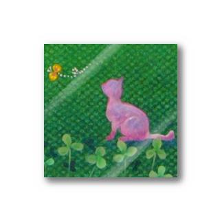 ステッカー_猫と蝶 Stickers