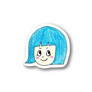 青髪のおんなのこ Stickers