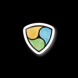 KURINOYA - クリノヤの#NEM  logo Polygonステッカー